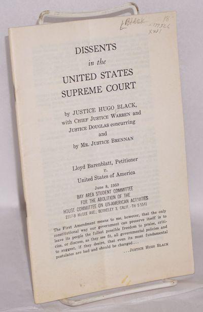 New York: Emergency Civil Liberties Committee, 1959. 34p., stapled wraps, 5.5x8.5 inches, mild creas...