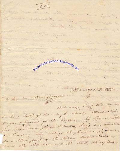 CADWALADER MORRIS (1741-1795). Morris was a Revolutionary War-era politician and merchant. ALS. 3pgs...