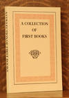 A COLLECTION OF FIRST BOOKS