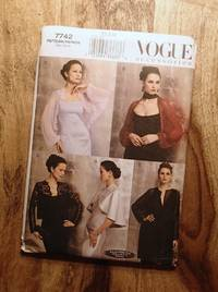 image of Vogue Sewing Pattern: 7742: VOGUE ACCESSORIES: Five Evening Wraps, Jackets & Coats: Size: XS-S-Mne Size