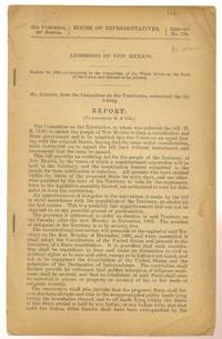 Admission of New Mexico Report from the Committee on the Territories