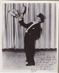 PHOTOGRAPH INSCRIBED AND SIGNED BY ICE-SKATER JUGGLER & MAGICIAN RALPH ENGLISH.