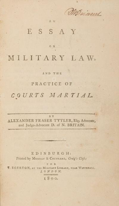 1800. Edinburgh: Printed by Murray & Cochrane, 1800. 1st. Edinburgh: Printed by Murray & Cochrane, 1...