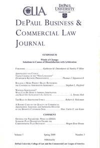 DePaul Business & Commercial Law Journal, Spring 2009; v. 7, no. 3