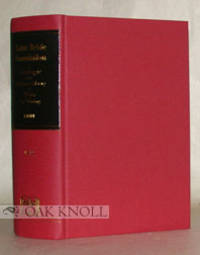 SAINT BRIDE FOUNDATION CATALOGUE OF THE TECHNICAL REFERENCE LIBRARY OF WORKS ON PRINTING AND THE...