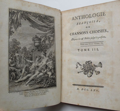 : , 1765. 3 volumes. Octavo. Full mid-tan polished calf with spine in decorative compartments gilt, ...