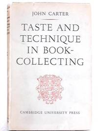image of Taste and Technique in Book-collecting