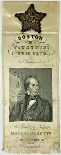 HENRY CLAY 1844 WHIG CONVENTION ONE-DAY EVENT RIBBON