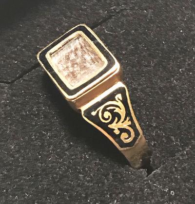 KATE GREENAWAY Memorial Ring. A late Victorian memorial ring for the book illustrator Kate Greenaway...