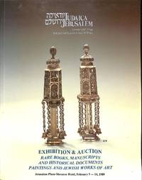 Sale 14-15 February 1989: Judaica Rare Books, Manuscripts, Documents,  Paintings and Jewish Works of Art. by SOCIETY OF JUDAICA COLLECTORS - JERUSALEM - from Frits Knuf Antiquarian Books (SKU: 75208)