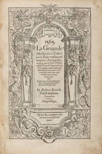 La Graunde Abridgement, Collecte par le Iudge Tresreverend.. by  Sir Anthony Fitzherbert  - 1565  - from The Lawbook Exchange Ltd (SKU: 71512)