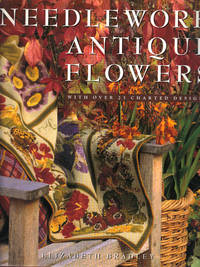 image of NEEDLEWORK ANTIQUE FLOWERS ~ With Over 25 Charted Designs
