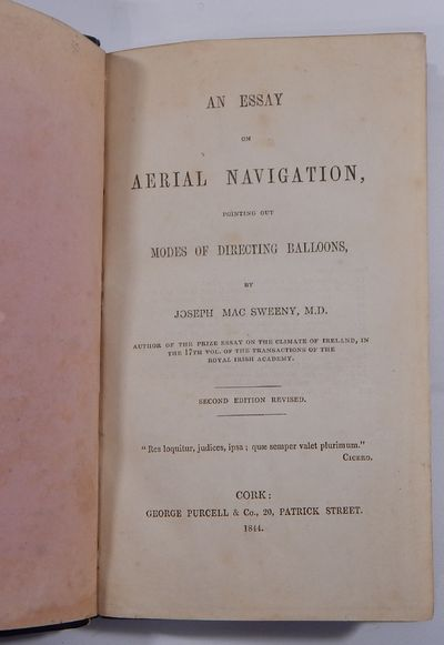 Cork: George Purcell, 1844. Second edition. Hardcover. Fine. 12mo. (vi),(2),122pp. Three woodcut pla...
