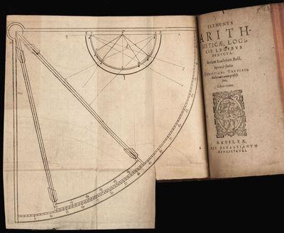8vo , (6) ff., (1)-122 pp., with (1) folding plate WURSTISEN, Christian. Elementa arithmeticae, logi...