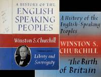Original, hand-painted dust jacket design concepts for the first and second volumes of Winston Churchill's A History of the English-Speaking Peoples