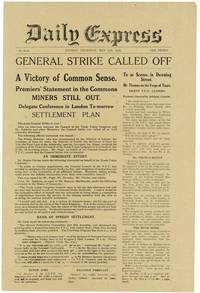 Archive of 15 pieces of printed ephemera relating to the 1926 General Strike in Great Britain, including all eight issues of Winston Churchill's anti-labor newspaper The British Gazette