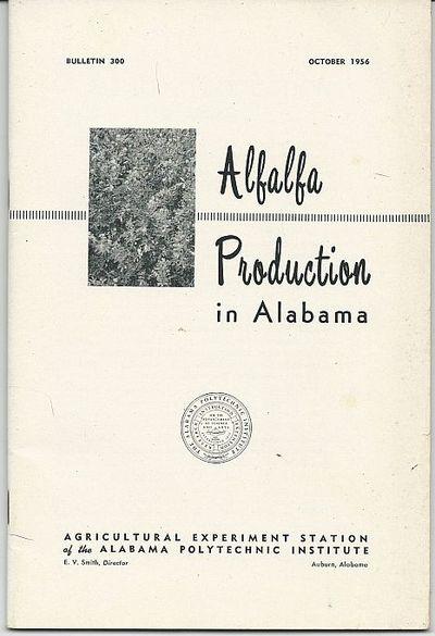 ALFALFA PRODUCTION IN ALABAMA, Sturkie, D. G.