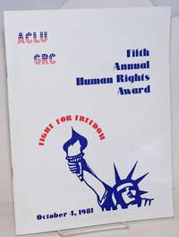 ACLU CRC Fifth Annual Human Rights Award: fight for freedom, October 4, 1981