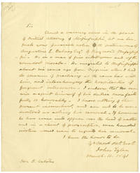 [AUTOGRAPH LETTER, SIGNED, FROM VICE PRESIDENT JOHN TYLER TO DANIEL WEBSTER, RECOMMENDING A CANDIDATE FOR DISTRICT ATTORNEY OF MISSISSIPPI]