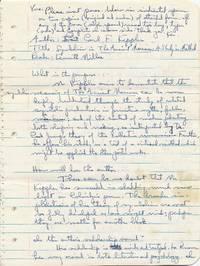 Autograph Manuscript Signed, 4to, 12 pp., n.p., n.d.
