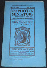 image of The Photo-Miniature: A Monthly Magazine of Photographic Information; Edited by John A. Tennant -- vol. 5 -- April 1903-March 1904