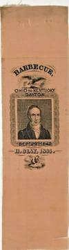 View Image 1 of 5 for UNIQUE HENRY CLAY WHIG PARTY BARBECUE RIBBON 1844 Inventory #1346470