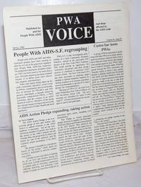 image of PWA Voice: published by and for people with AIDS and those affected by the AIDS crisis, vol. 1, #1, Spring, 1988; People With AIDS-SF Regrouping