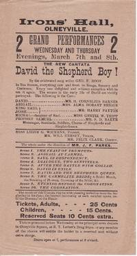 image of Irons' Hall Olneyville, Rhode Island Theatre Handbill