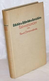 image of Erlebtes, Erstrebtes, Erreichtes: Erinnerungen