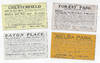 View Image 1 of 2 for Four Advertising Cards with Miniature Plat Maps for Kansas City, Missouri Housing Developments Inventory #21482