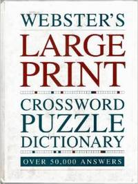 Webster\'s large print crossword puzzle dictionary