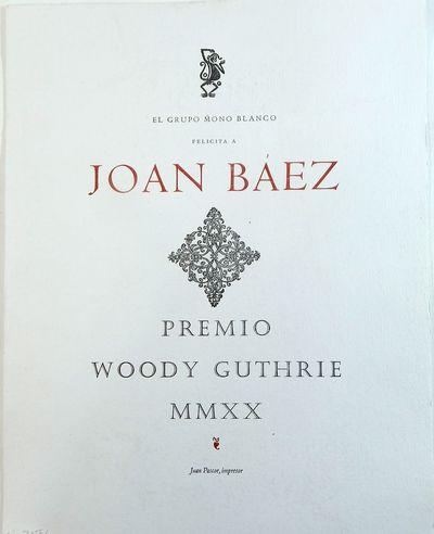 (Tacámbaro): Juan Pascoe, 2020. Limited edition. Broadside. Fine. Broadside finely printed letterpr...