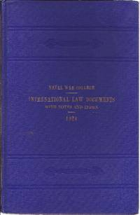 International Law Documents 1924 International Agreements With Notes and Index