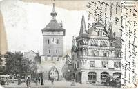 image of Schnetzthor Clock Tower-Konstanz,Germany on 1905 Undivided Back Postcard