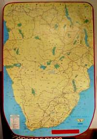 image of SOUTHERN AFRICA TOURIST MAP