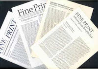 image of Fine Print: A Review for the Arts of the Book. Vol. 3, No. 1 - 4, January - October 1977
