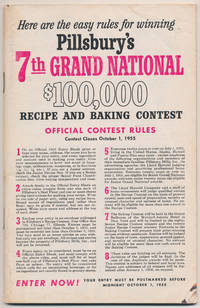 Pillsbury's 7th Grand National $100,000 Recipe and Baking Contest Rules