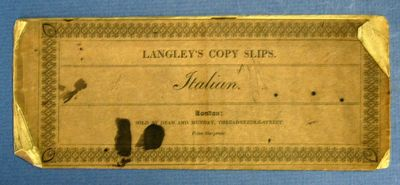 London: Published by Edward Langley, (n.d.). Printed dark brown wrappers (stab sewn). Gd (edgeworn/i...