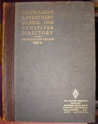 Australasian advertisers' manual and newspaper directory