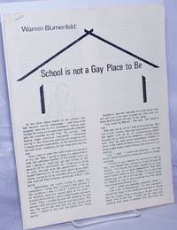 image of School is Not a Gay Place to Be [offprint]