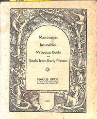 Catalogue 395/1920: Manuscripts, Incunables, Woodcutbooks and Books from  Early Presses.