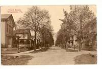 image of WEATHERLY PENNSYLVANIA VINTAGE POSTCARD SHOWING THIRD STREET
