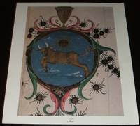 image of Vintage Print of Italian Mural Taurus Zodiac Astrology Symbol Ready to  Framel