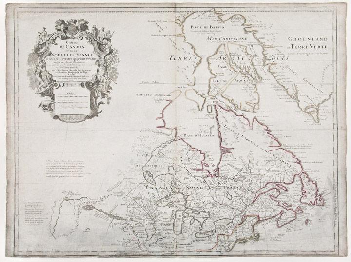 Carte du Canada ou de la Nouvelle France et des Decouvertes qui ont ete faites by DE L'ISLE ...