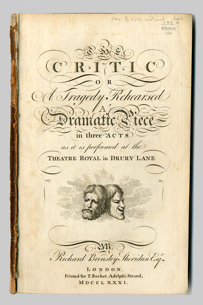London: Printed for T. Becket, 1781. ,98pp. Octavo. Extracted from bound volume. Engraved title-page...