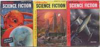 """Astounding Science Fiction October, November & December 1951, 3 issues featuring """"Iceworld"""" by Hal Clement, + Ultima Thule, The Edge of Forever, Dune Roller, """"The Years Draw Nigh"""", The Head Hunters, +++"""