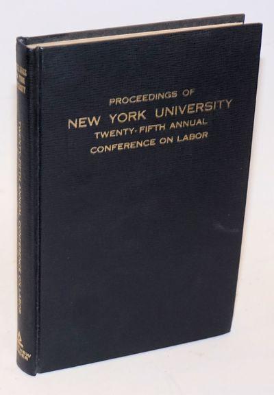 New York: Matthew Bender, 1973. iv, 238p., hardback without dj, clean, tight binding. Articles on va...