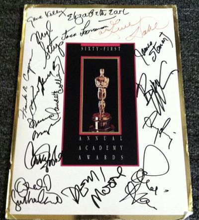 An extraordinary one-of-a-kind collectible, exquisitely custom framed. This is the original program ...
