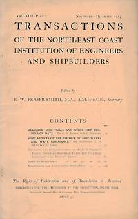 Transactions of the North East Coast Institution of Engineers and Shipbuilders. Volume XLII, Pt 2. 1925