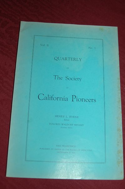 Society of California Pioneers. Original Wraps. Good. 64mo - up to 3
